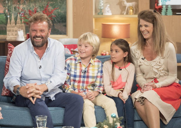Martin Roberts with wife Kirsty and children Scott and Megan on This Morning