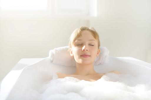 Tranquillity time: taking a bath can help soothe the soul