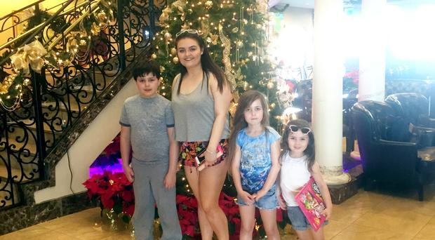 Joanne McGibbon's children, from left, Shea, Seana, Michaela and Corry-Leigh on holiday