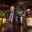 Willie Jack at his new Irish whiskey shop at Hill Street, Belfast