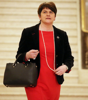 Unhelpful remark: DUP leader Arlene Foster said that the forthcoming Assembly poll would be a 'brutal election'