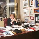 Place apart: Donald Trump in his office in New York