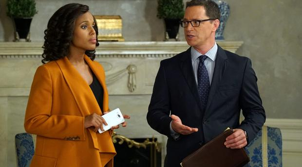 Party politics: Kerry Washington with Joshua Malina in Scandal