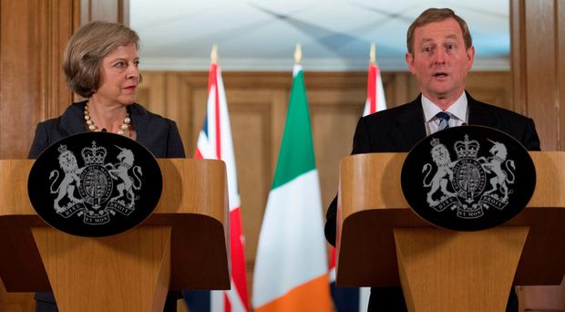 Theresa May and Enda Kenny are meeting in Dublin