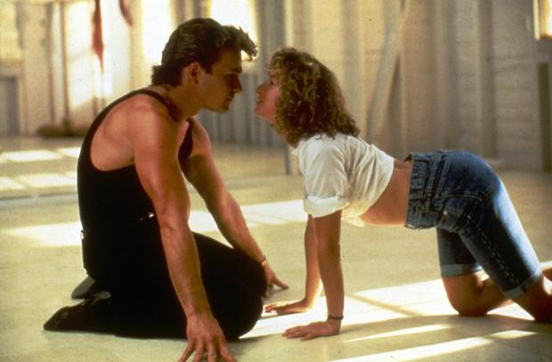 Classic pose: Patrick Swayze as Johnny and Jennifer Grey as Baby in the original film