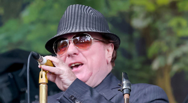 Sir Van Morrison on stage at Cyprus Avenue during one of his birthday gigs