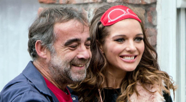 Street stars: Michael Le Vell as Kevin Webster and Helen Flanagan as Rosie Webster
