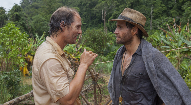 Matthew McConaughey, left, with Edgar Ramirez