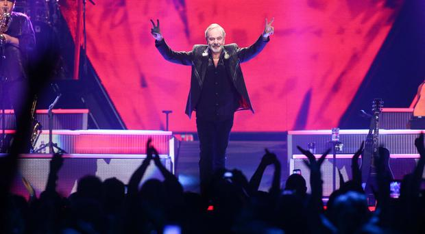 Lyrical puzzle: Neil Diamond sings at the Odyssey Arena in Belfast