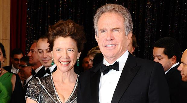 Star couple: Annette and her husband Warren Beatty