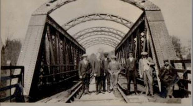 The bridge was built in 1915 and the rail line carried passenger trains between Belfast and Antrim through Lisburn and Crumlin stations for years until the station was closed in the 1980s and that bridge was mothballed - never mind its standing as a feat of engineering