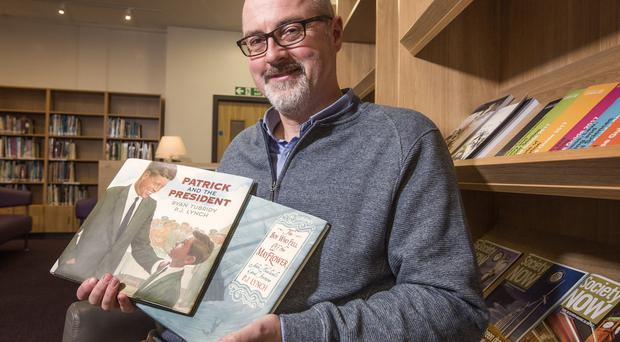 Artistic family: PJ Lynch with two of his books