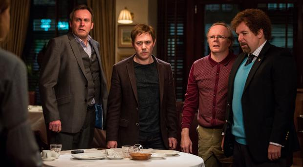 Strange happenings: Philip Glenister, Reece Shearsmith, Jason Watkins and Steve Pemberton in Inside No. 9