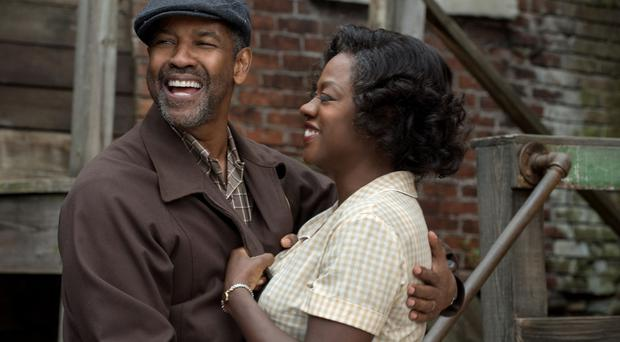 Double act: Denzel Washington and Viola Davis in Fences