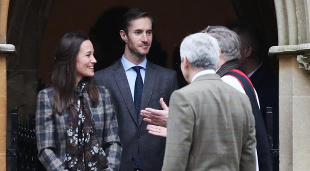 Traditional customs: Pippa Middleton and her fiance James Matthews
