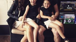Steven Davis and his wife Tracey with their daughters Chloe and Kaia