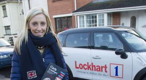 Stepping out: Upper Bann candidate, the DUP's Carla Lockhart