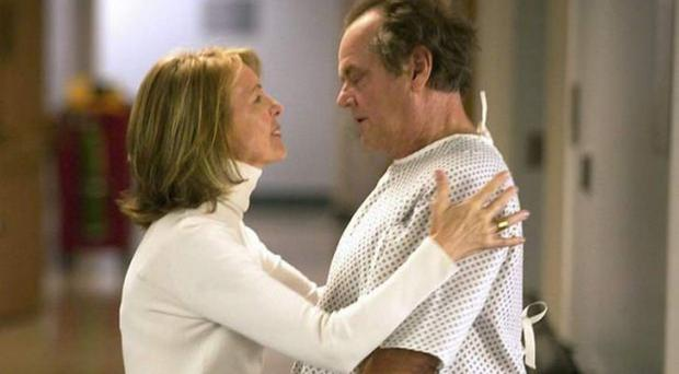 Oldstyle romp: Diane Keaton and Jack Nicholson in Something's Gotta Give
