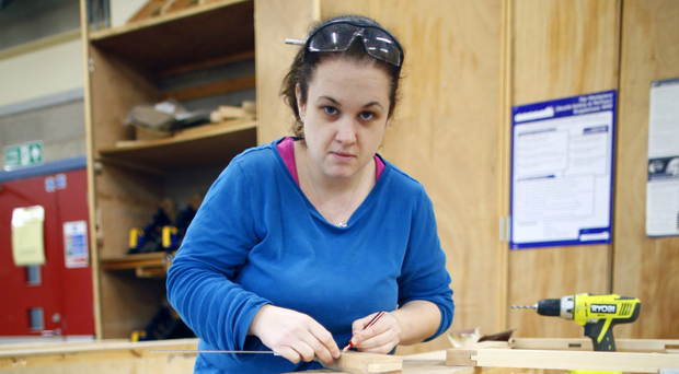 Building a future: Aine McLaughlin is studying to be a joiner