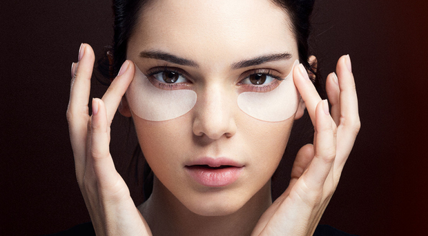Bright eyes: Kendall Jenner using Estee Lauder Advanced Night Repair Concentrated Recovery Eye Mask, available from esteelauder.co.uk