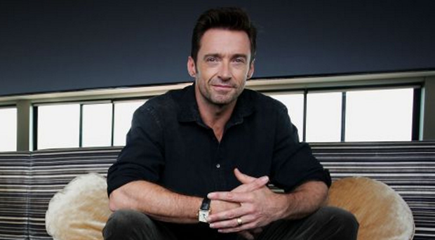 Looking sharp: Hugh Jackman says he was relieved to ditch Wolverine's sideburns, but not as glad as his wife