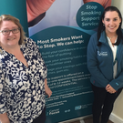 Support service: Suzanne Patterson with Suzy O'Kane of Cancer Focus NI