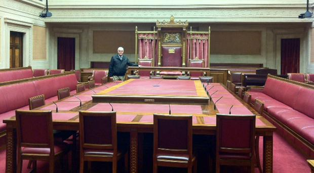 I'm delighted to note that the Upper Chamber at Stormont hasn't been relegated to the past tense