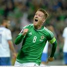 The fans will be hoping that Steve Davis is on target when Northern Ireland take on Norway