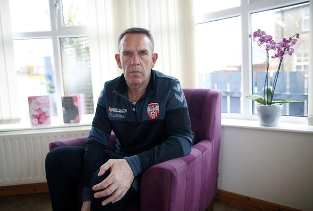 Kenny Shiels, manager of Derry City Football Club
