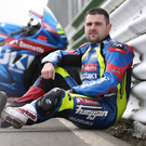 Michael Dunlop with his Bennetts Suzuki GSXR superbike