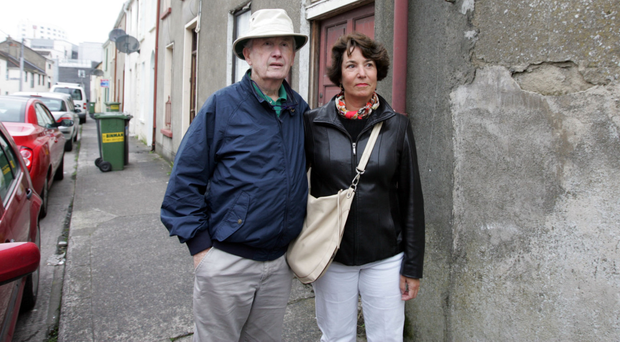 Frank McCourt and his wife Ellen in Limerick in 2008