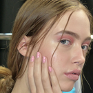 Hands on: a model backstage at Emilio de la Morena SS17 wearing Orly nail polish