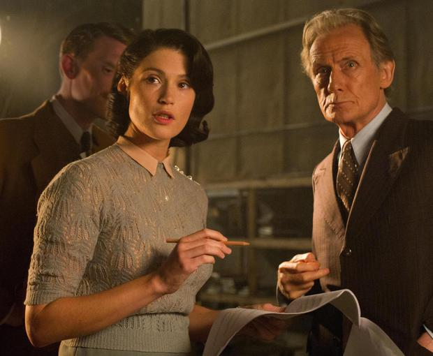 Gemma Arterton as Catrin Cole and Bill Nighy as Ambrose Hilliard