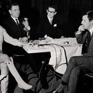 Risque rose: Mansfield at a Press conference with Bill O'Herlihy in Tralee in 1967