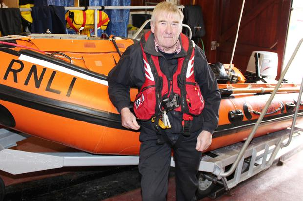 A local hero: Robin with the inshore RNLI Lifeboat