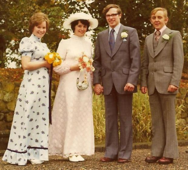 Proud moment: Joe and Colette Turner on their wedding day