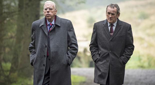 Timothy Spall and Colm Meaney as Paisley and McGuinness in his new film The Journey