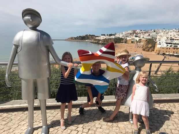 Trip away: the Kennedy children on holiday, Kristen, Jude, Chloe and Kayla