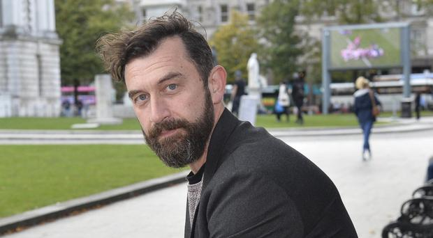 Author Paul McVeigh and in Belfast city centre