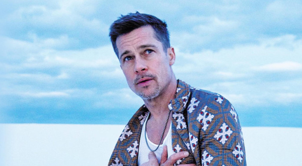 True colours: Brad Pitt poses for GQ in an unconventional photoshoot