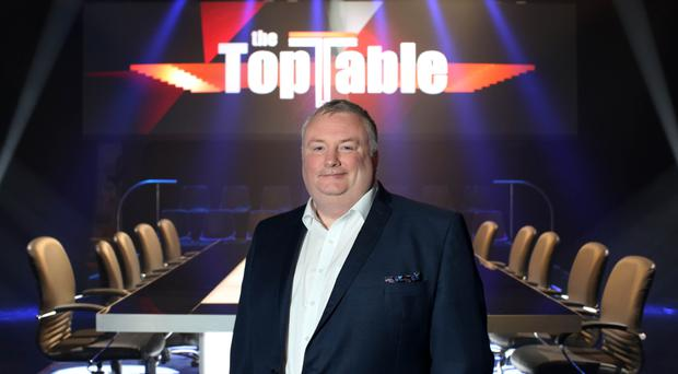 Stephen Nolan on the set of The Top Table, which airs tonight for the first time