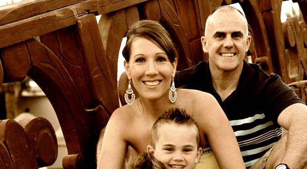 Lauren O'Malley and her husband Terence 'Banjo' Bannon and their sons Conor and Rowan