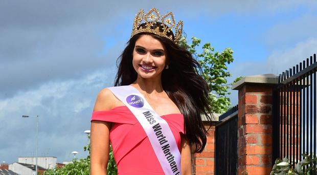 Crowning glory: Anna Henry is the new Miss NI 2017
