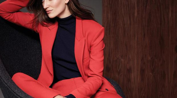 The statement suit - Jacket, £69, trousers, £39.50, polo neck, £17.50, shoes, £55