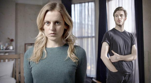 Nailbiting: Denise Gough as Paula and Tom Hughes as James in the new BBC series