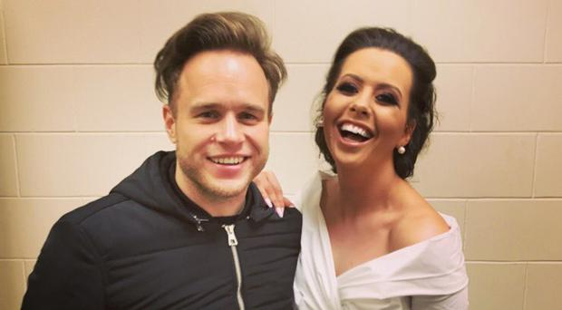Backstage meeting: Rebecca McKinney with Olly Murs