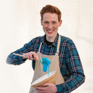 Making dough: Andrew came to public attention in the Great British Bake Off