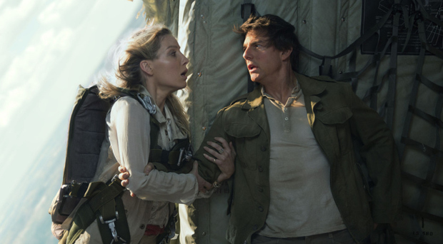 All action: Annabelle Wallis and Tom Cruise in The Mummy