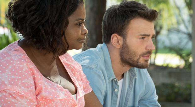 Moving drama: Octavia Spencer as Roberta and Chris Evans as Frank in Gifted