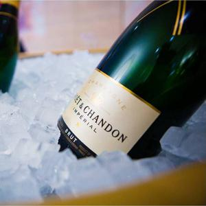Bottoms up: Champagne is a popular drink during the summer months